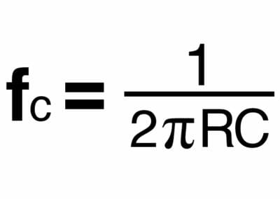 Figure 2 - The formula used for finding the cutoff frequency of a system.